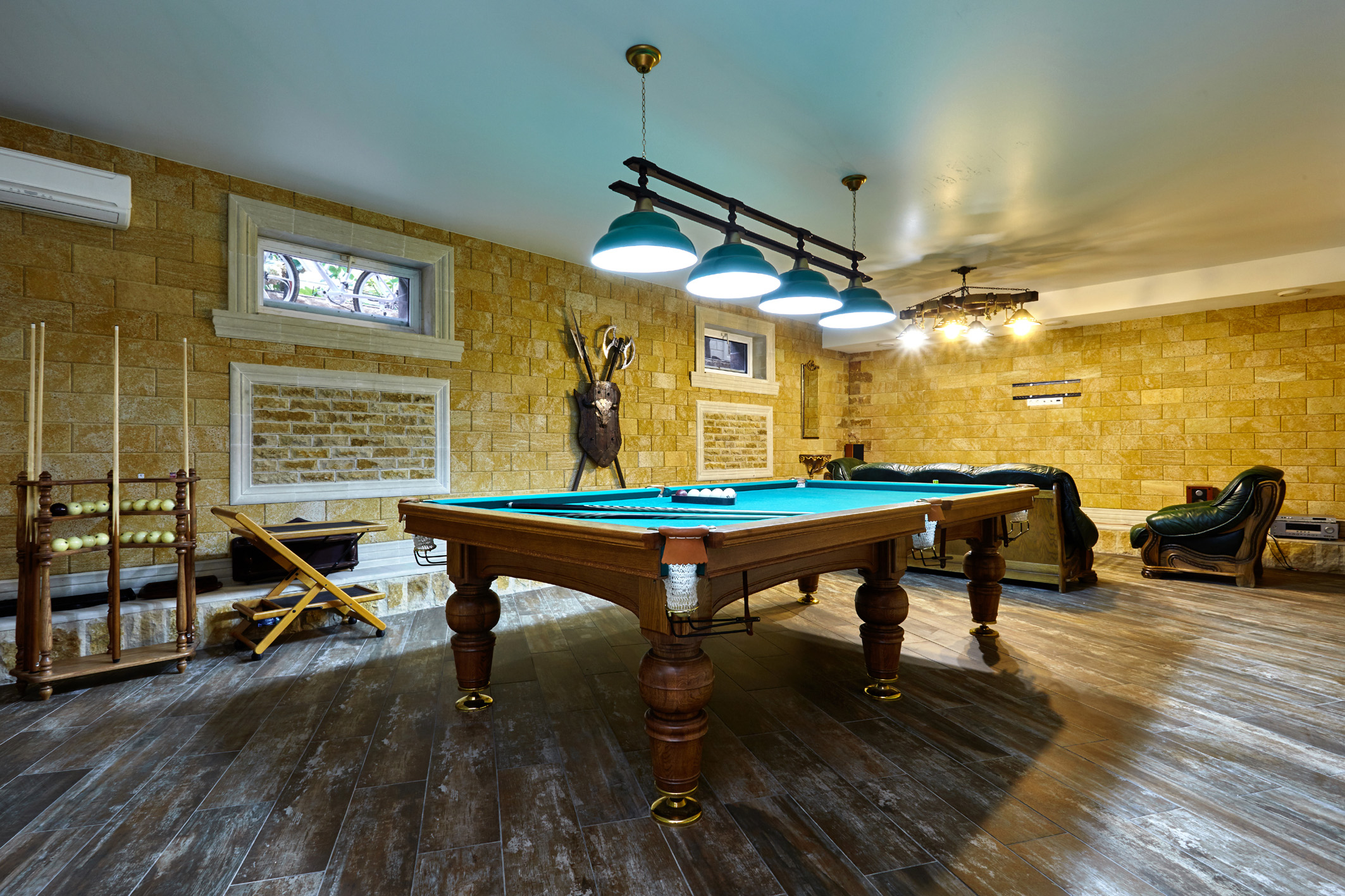 billiard room with a beautiful interior